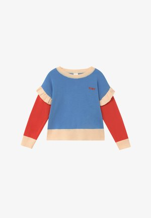 TINY FRILLS CROP  - Strikpullover /Striktrøjer - blue/red
