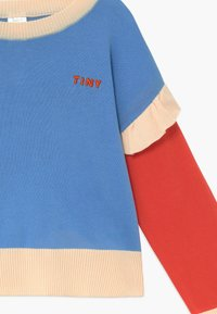 TINYCOTTONS - TINY FRILLS CROP  - Jumper - blue/red - 3