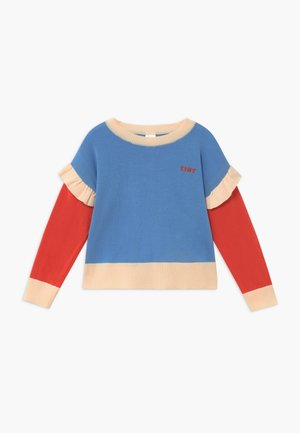 TINY FRILLS CROP  - Trui - blue/red