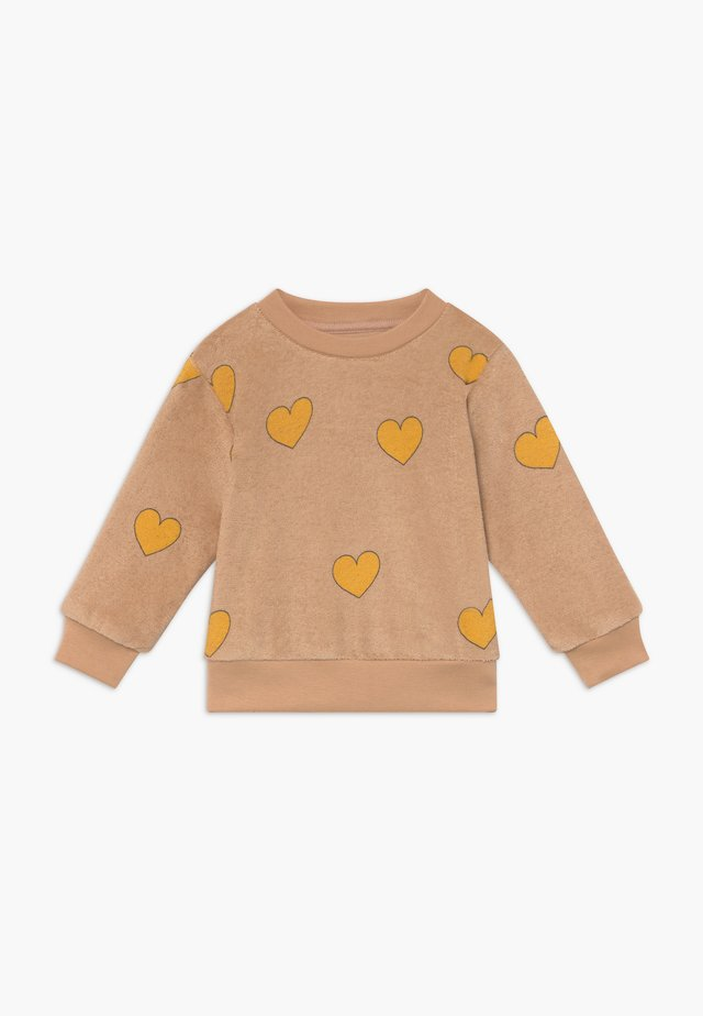 HEARTS  - Collegepaita - light nude/yellow