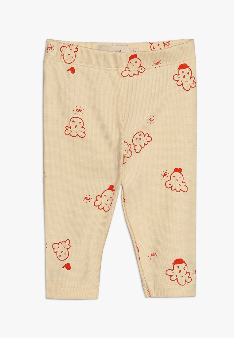 TINYCOTTONS - POPCORN PANT BABY - Leggings - Trousers - cream/red
