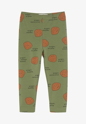 SHELLS PANT - Leggings - green wood/brown