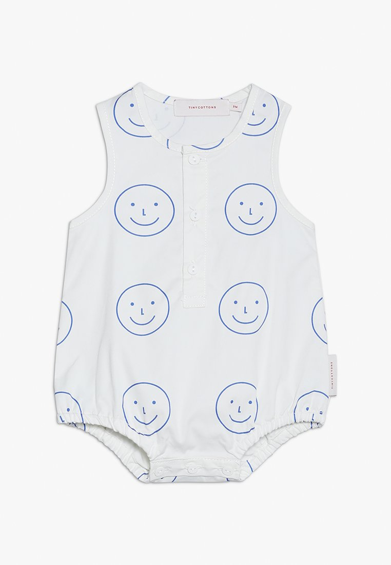 TINYCOTTONS - HAPPY FACE ONE PIECEBABY - Jumpsuit - off white/ultramarine
