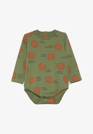 SHELLS BODY - T-shirt à manches longues - green wood/brown