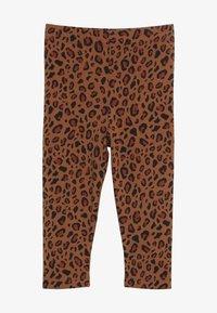 TINYCOTTONS - ANIMAL PRINT PANT - Leggings - brown/dark brown - 2