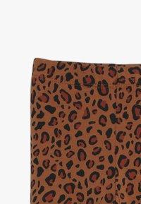 TINYCOTTONS - ANIMAL PRINT PANT - Leggings - brown/dark brown - 3