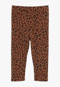 TINYCOTTONS - ANIMAL PRINT PANT - Leggings - brown/dark brown - 0