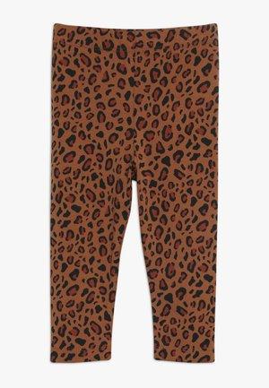 ANIMAL PRINT PANT - Legging - brown/dark brown