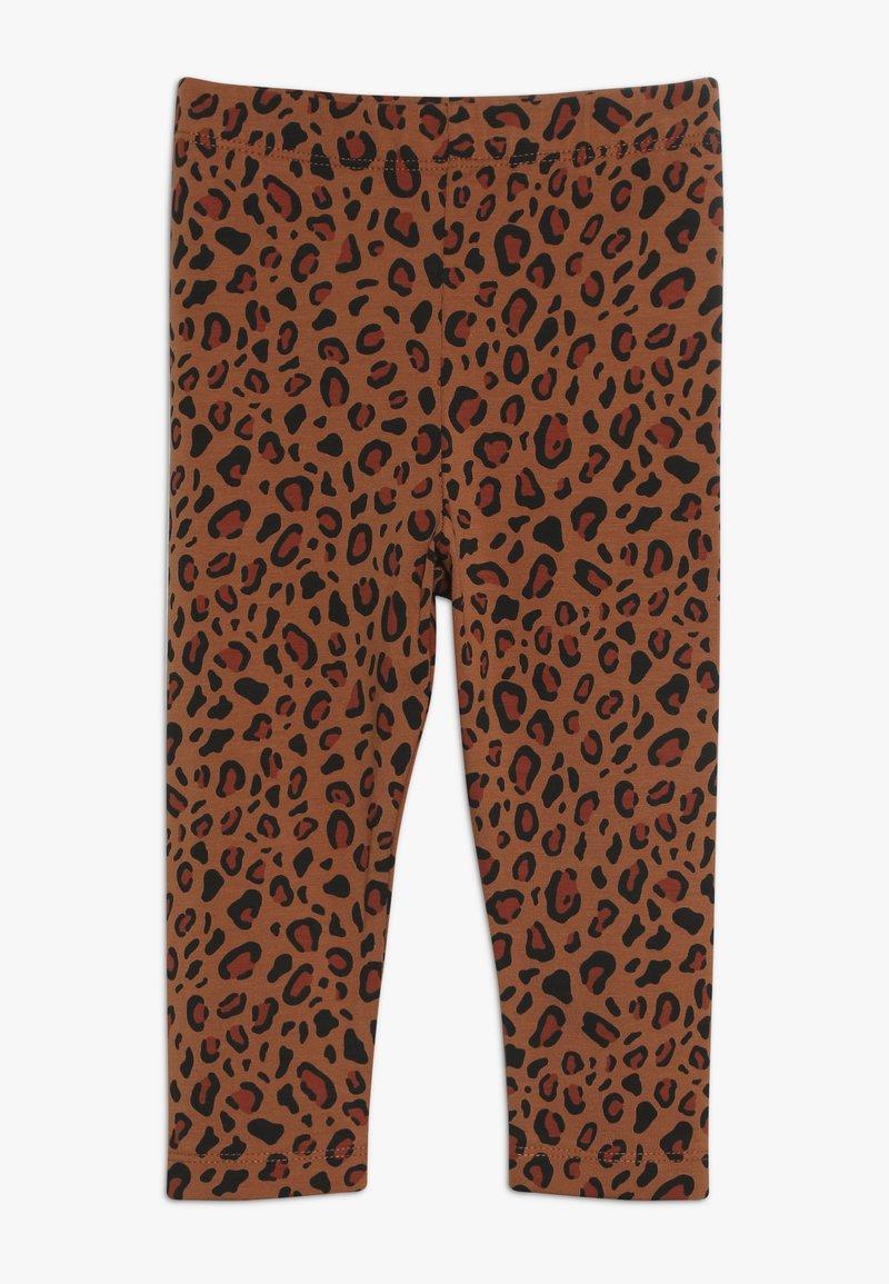 TINYCOTTONS - ANIMAL PRINT PANT - Leggings - brown/dark brown