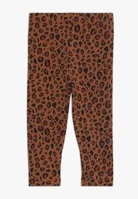 TINYCOTTONS - ANIMAL PRINT PANT - Leggings - brown/dark brown - 1