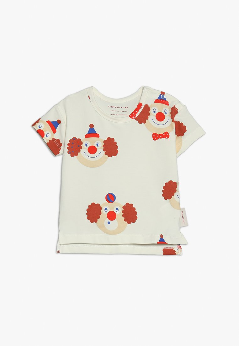 TINYCOTTONS - CLOWNS TEE BABY - T-Shirt print - off white/sienna