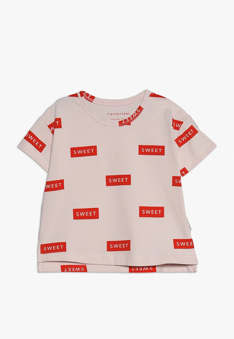 TINYCOTTONS - SWEET TEE - Camiseta estampada - pearl/red