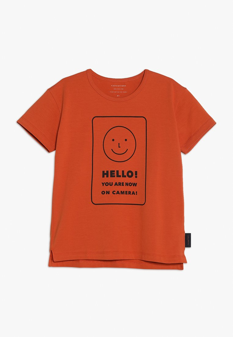 TINYCOTTONS - SMILE TEE - Print T-shirt - sienna/navy