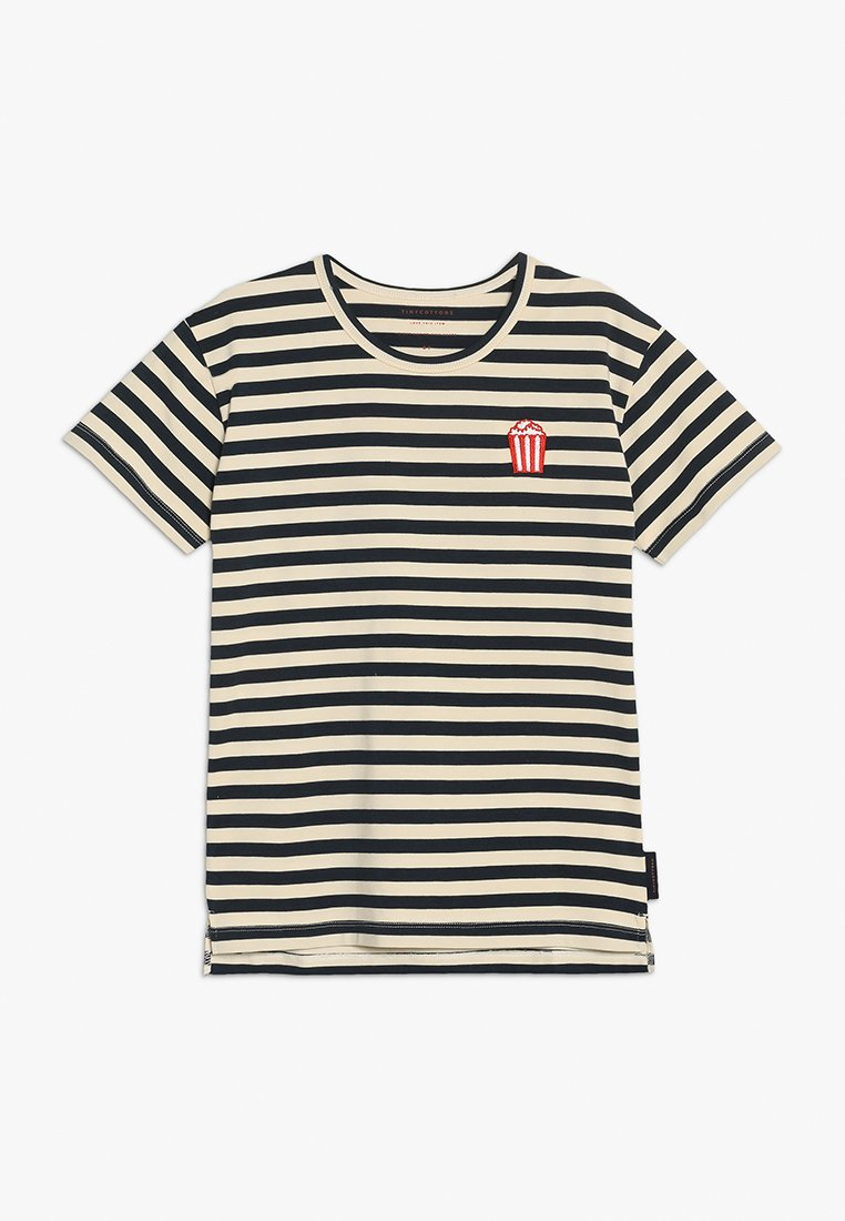 TINYCOTTONS - POPCORN STRIPES TEE - T-Shirt print - cream/navy