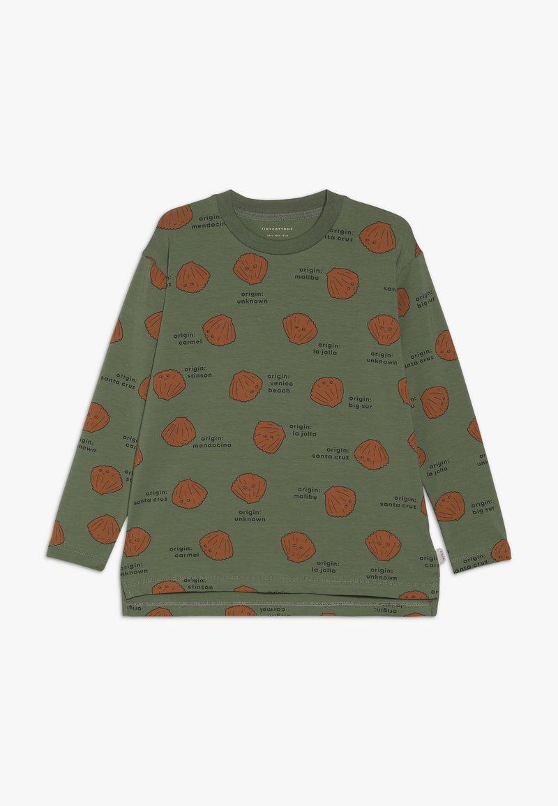 TINYCOTTONS - SHELLS TEE - Bluzka z długim rękawem - green wood/brown