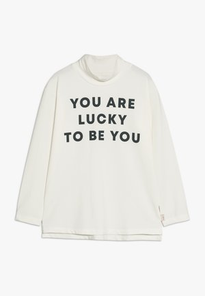 YOU ARE LUCKY MOCK NECK TEE - Camiseta de manga larga - off-white/true navy