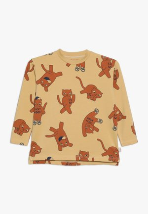 CATS TEE - Long sleeved top - sand/brown