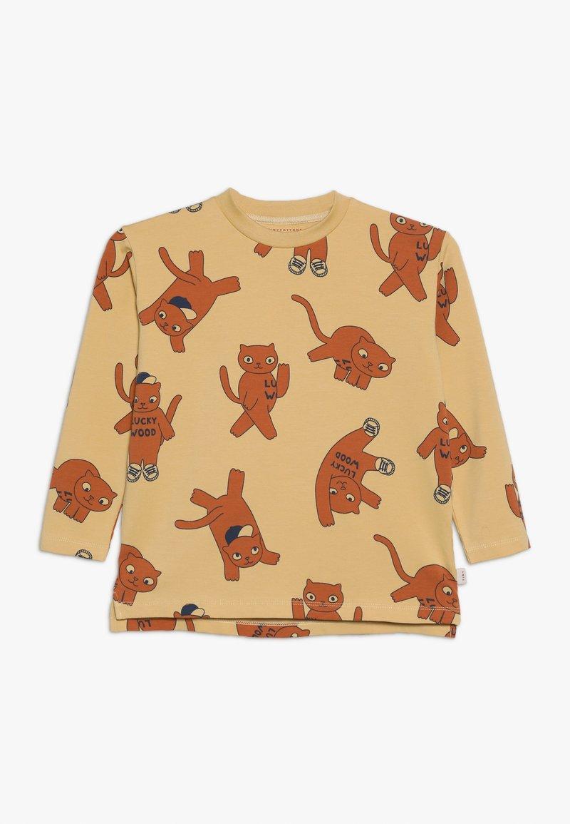 TINYCOTTONS - CATS TEE - Camiseta de manga larga - sand/brown