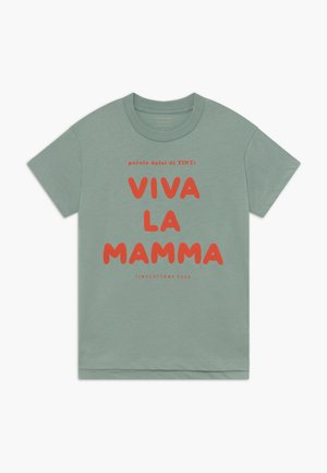 VIVA LA MAMA TEE - Triko spotiskem - sea green/red