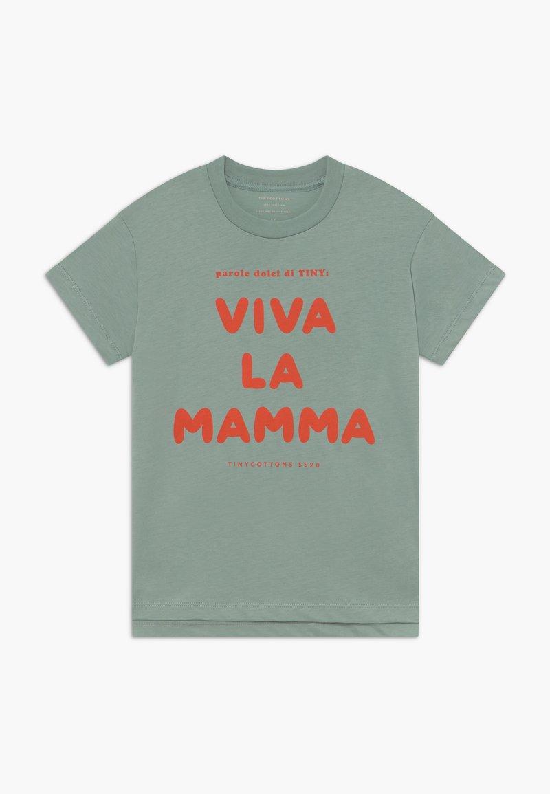 TINYCOTTONS - VIVA LA MAMA TEE - Triko spotiskem - sea green/red