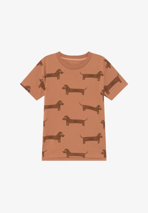IL BASSOTTO TEE - Triko s potiskem - tan/ brown