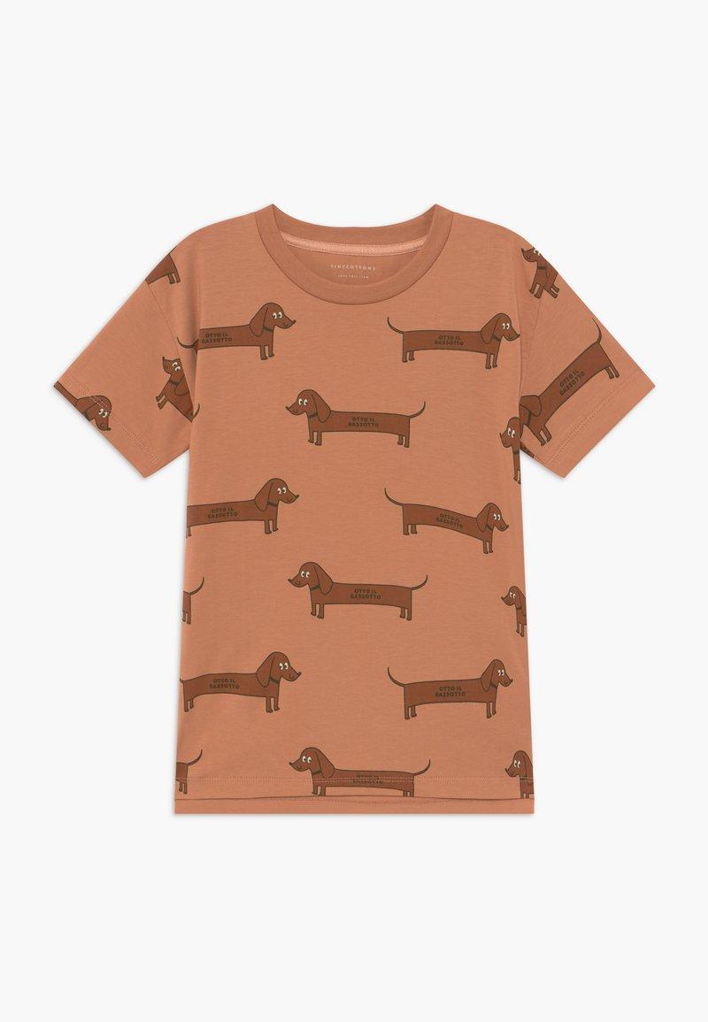 TINYCOTTONS - IL BASSOTTO TEE - Camiseta estampada - tan/ brown