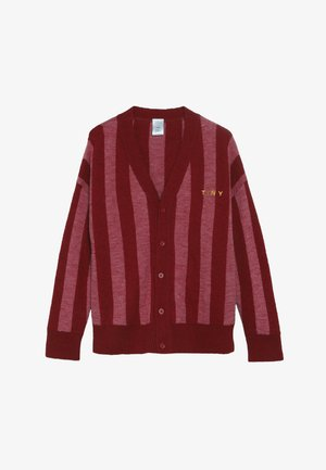 STRIPES CARDIGAN - Strikjakke /Cardigans - burgundy/bubble gum
