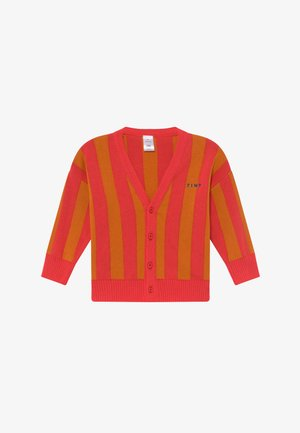 STRIPES CARDIGAN - Kardigan - red/brick