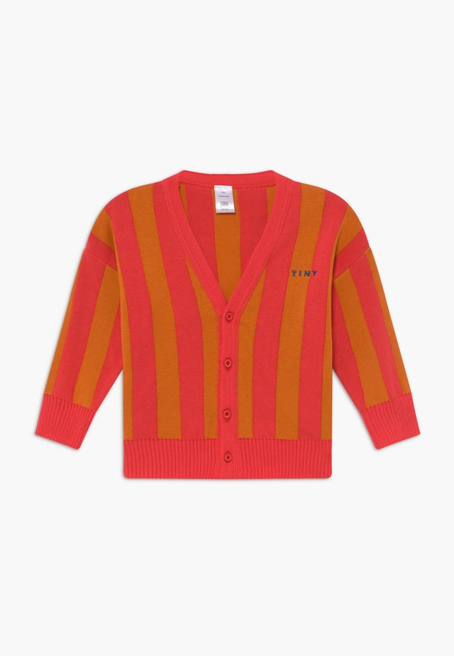 STRIPES CARDIGAN - Neuletakki - red/brick
