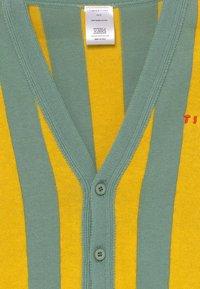 TINYCOTTONS - STRIPES CARDIGAN - Kardigan - sea green/yellow - 1