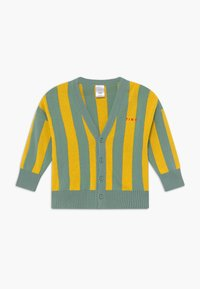 TINYCOTTONS - STRIPES CARDIGAN - Kardigan - sea green/yellow - 0
