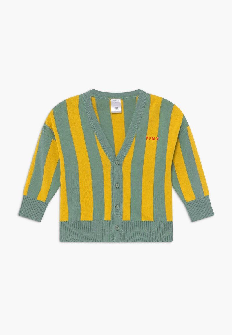 TINYCOTTONS - STRIPES CARDIGAN - Kardigan - sea green/yellow