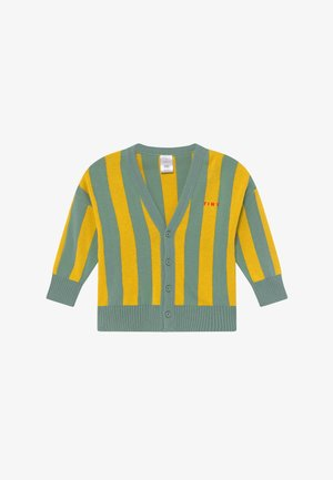 STRIPES CARDIGAN - Strickjacke - sea green/yellow