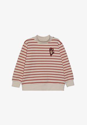 CITIZEN - Sweatshirt - light cream/red
