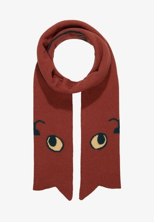 CATS SCARF - Scarf - dark brown
