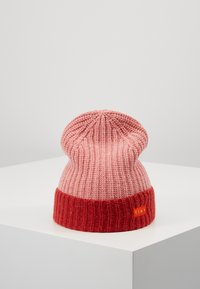 TINYCOTTONS - COLOR BLOCK BEANIE - Beanie - pale pink/burgundy - 0