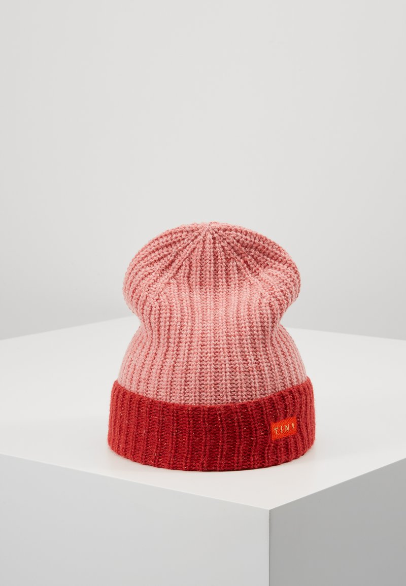 TINYCOTTONS - COLOR BLOCK BEANIE - Beanie - pale pink/burgundy