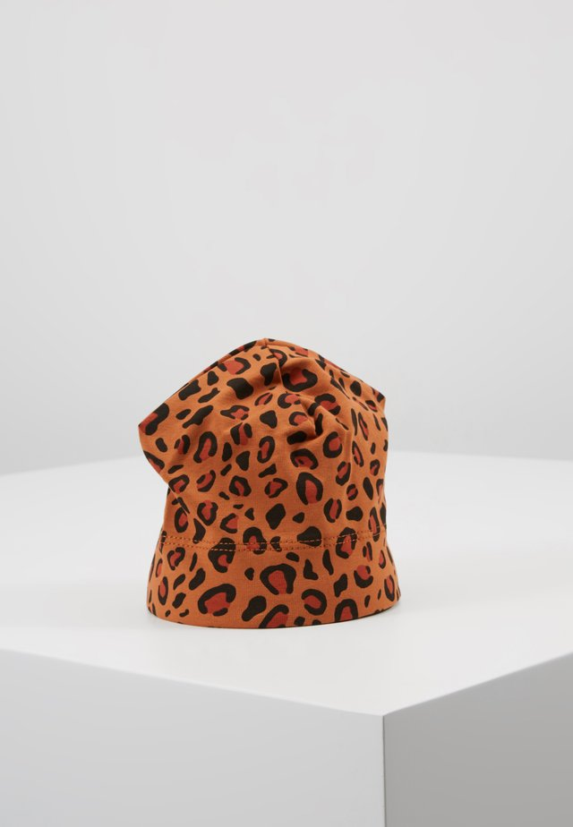 PRINT BABY HAT - Pipo - brown/dark brown