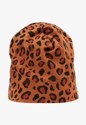 PRINT BABY HAT - Muts - brown/dark brown