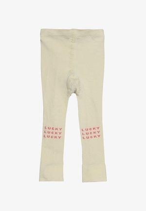 LUCKY - Leggings - cream/rose