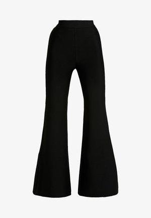 SYLVIA PANT - Kalhoty - black