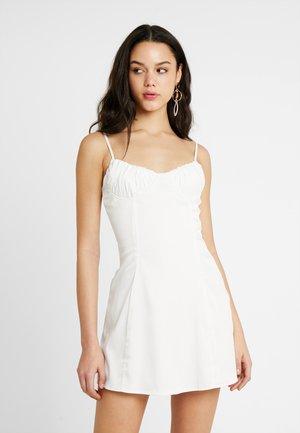 ELSIE DRESS - Korte jurk - white