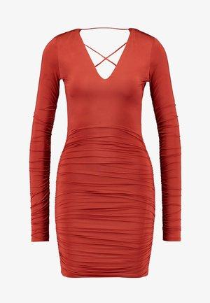 MASON DRESS - Jersey dress - rust