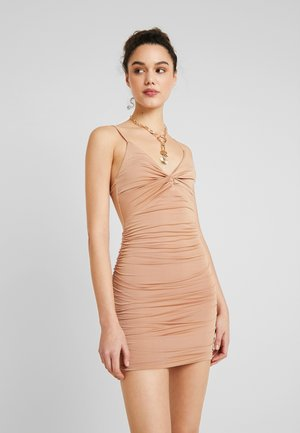 GABBY DRESS - Korte jurk - nude