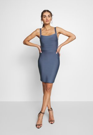 PRAGUE DRESS - Pouzdrové šaty - steele