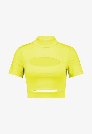 BECCA - T-shirt print - neon yellow