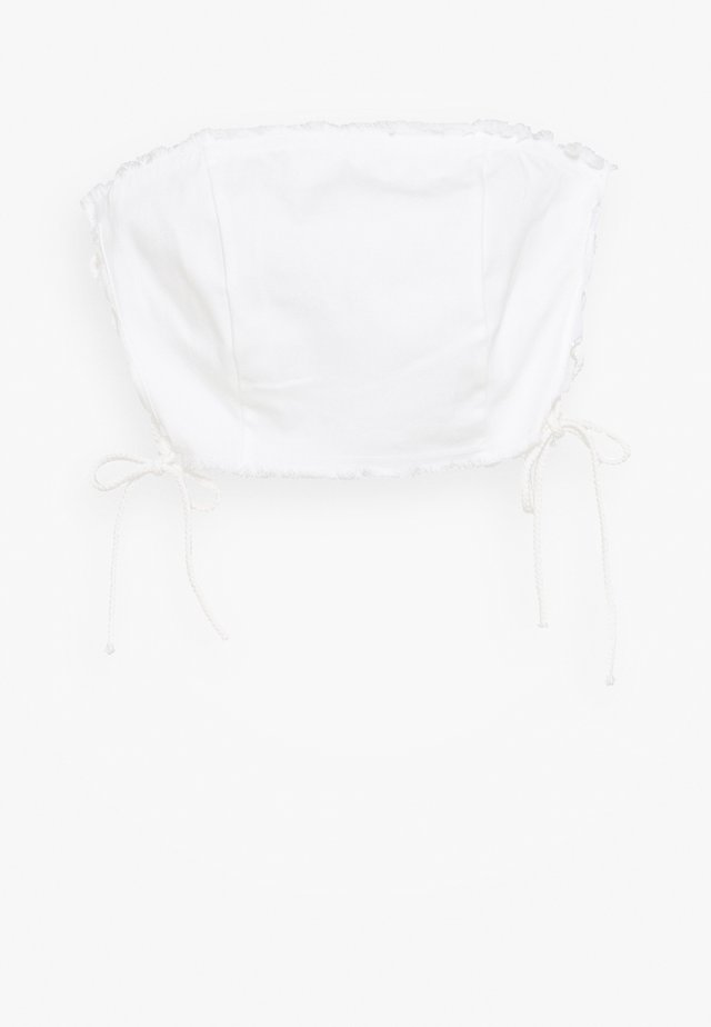 ASTRA CROP - Blouse - white