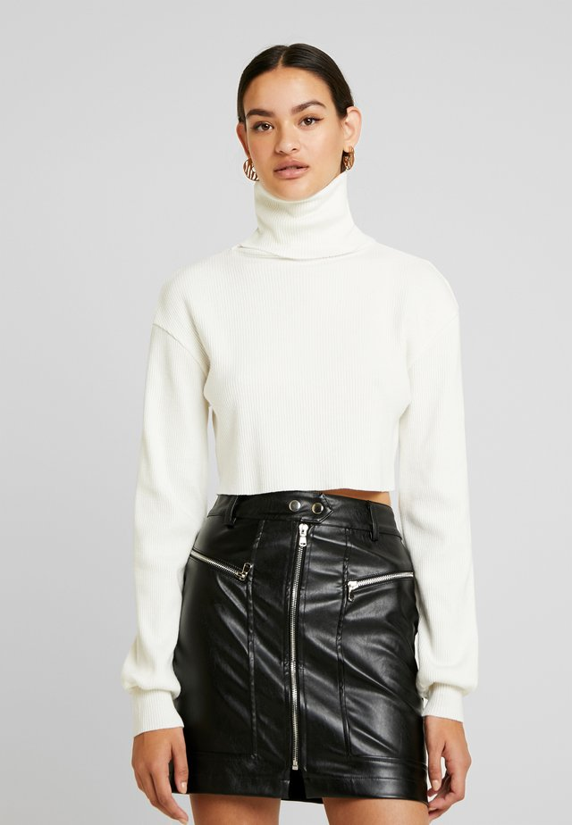 SUGAR TURTLE NECK - Neule - cream