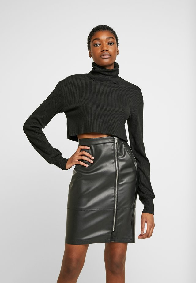 SUGAR TURTLE NECK - Neule - black