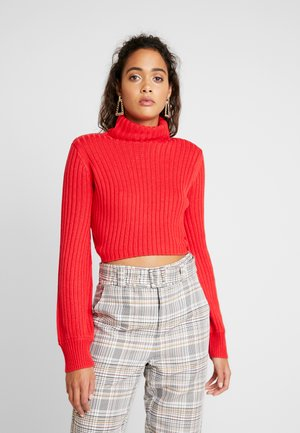 SUGAR TURTLE NECK - Sweter - red